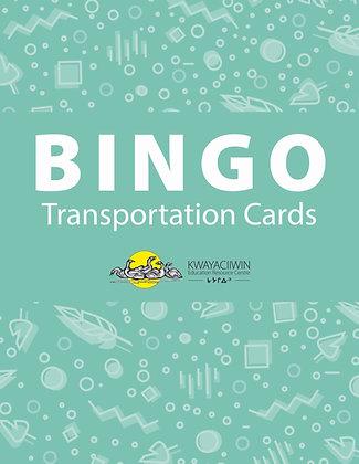 Transportation Bingo Cards