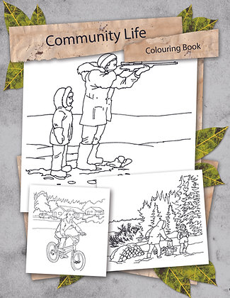 Community Life Colouring Book