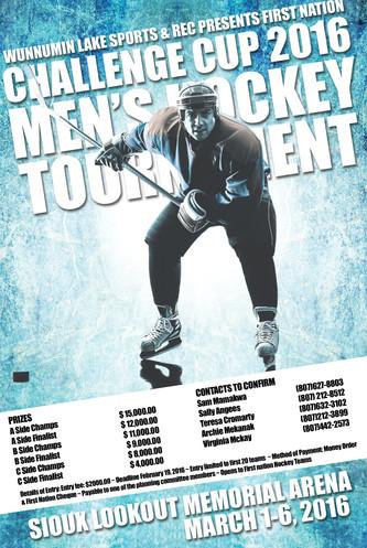 Wunnimun Hockey Tournament Poster