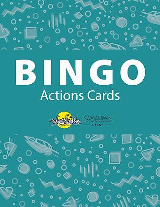 Actions Bingo Cards