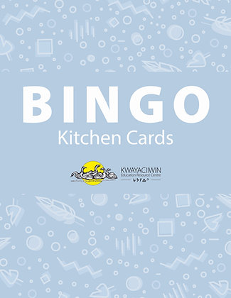 Kitchen Objects Bingo Cards