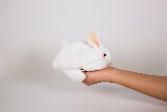 White Bunny Rabbit Hand Puppet