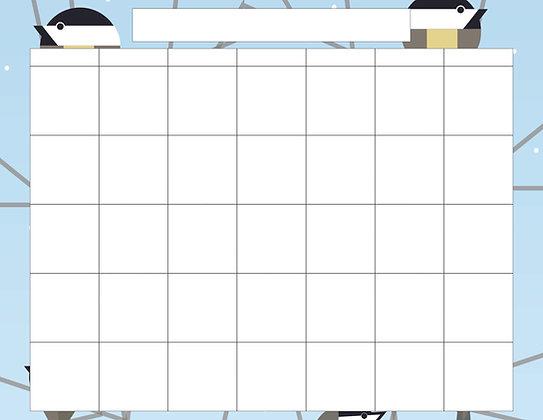 Chickadees Calendar Templates
