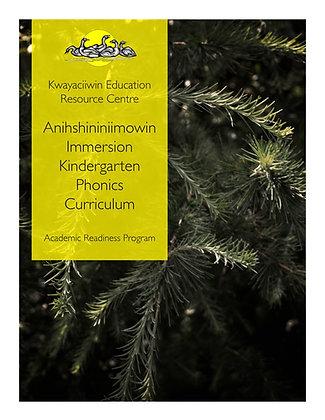 Kindergarten Immersion Phonics Curriculum Guidelines