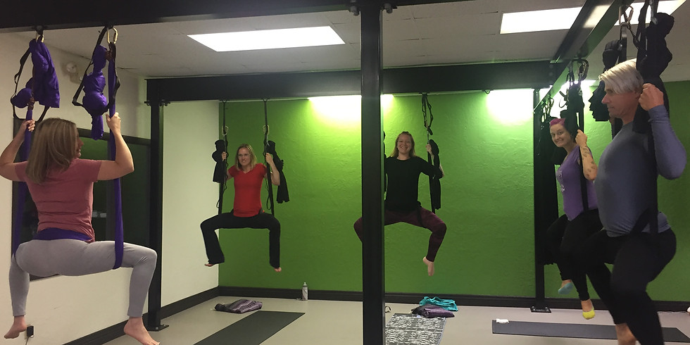 Aerial Yoga Class- Intro Class REQUIRED