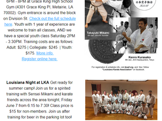 Dojo News: 10th Annual Summer Camp Next Week