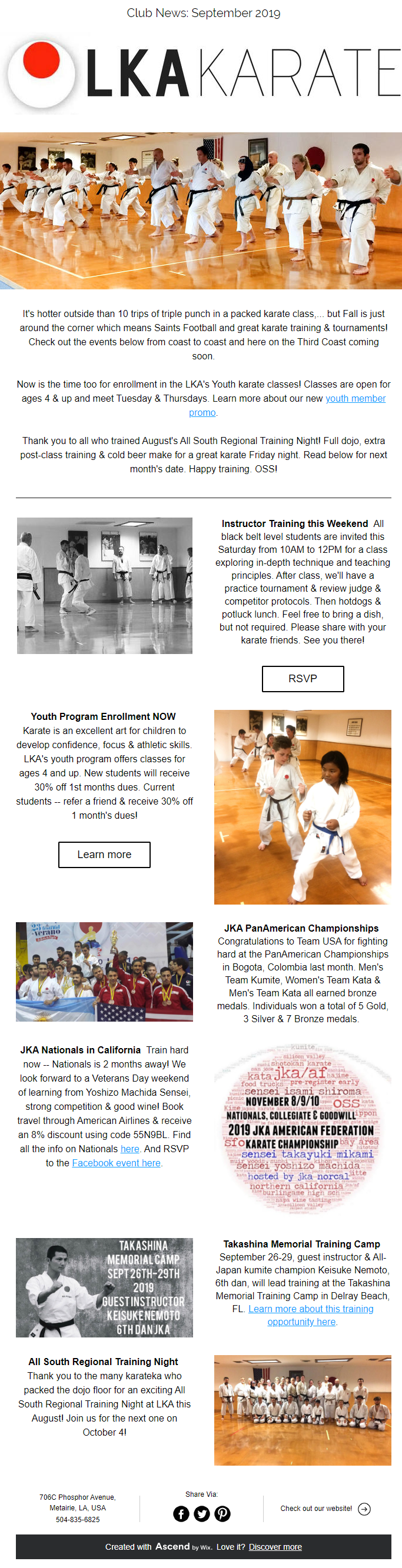 Karate students - adult and youth - train hard every day to develop physical and mental strength at LKA dojo