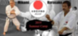 Karate camp with instruction by Sensei Mikami and Sensei Kurasako
