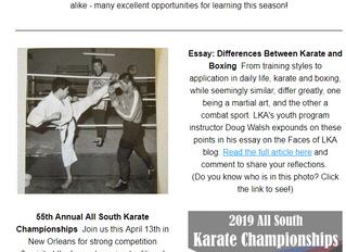 Dojo News: Tournaments, training, Mardi Gras & more!
