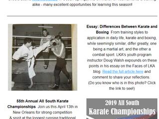 Dojo News: Tournaments, training, Mardi Gras & more!