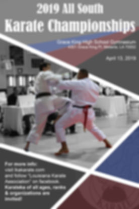 All South karate Championships tournament held in New Orleans this April!