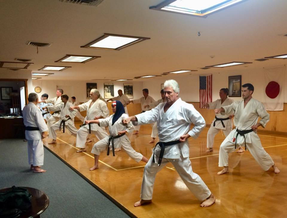 Adult karate class at LKA in Metairie