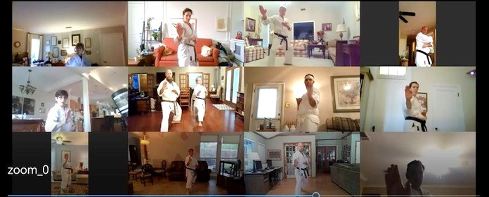 Louisiana Karate Association's online Zoom class