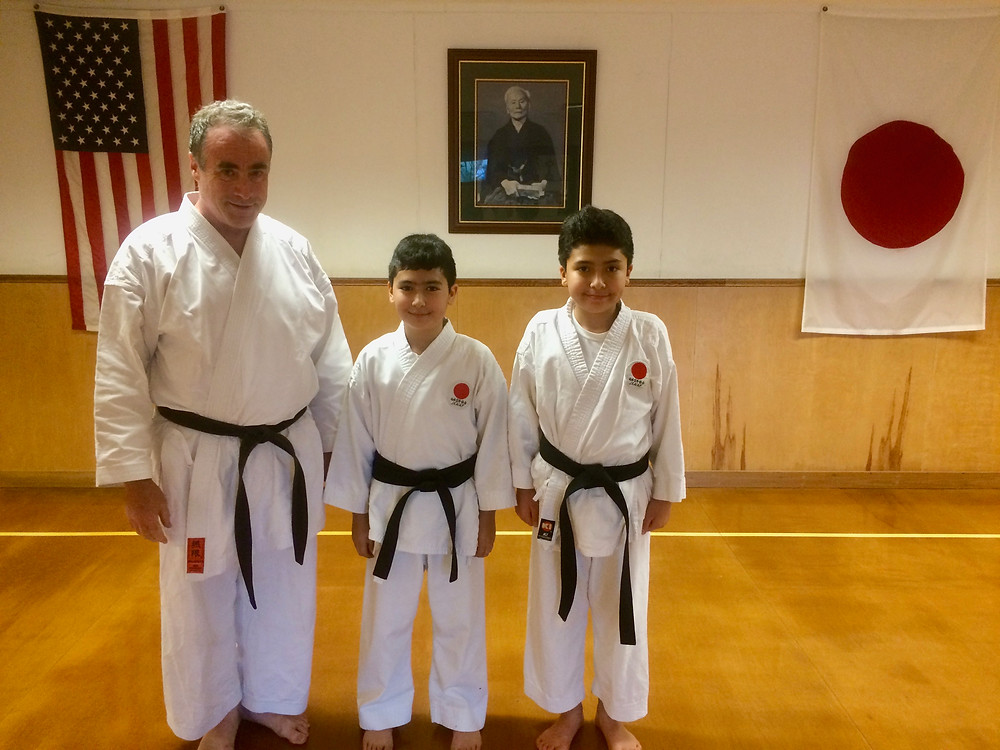 LKA's newest youth black belts with Sensei Doug Walsh