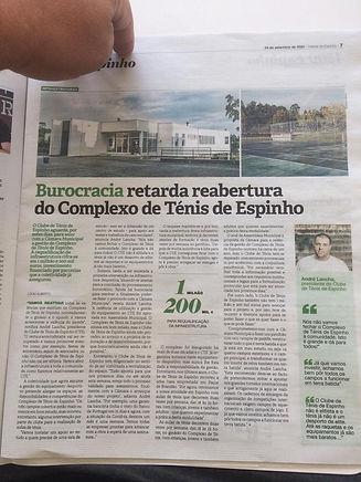 Burocracias Complexo Ténis Espinho