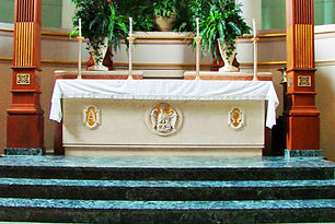 St. Peter's Catholic Church Altar Renovation l Paul J. Allain Architect APAC l New Iberia Louisiana