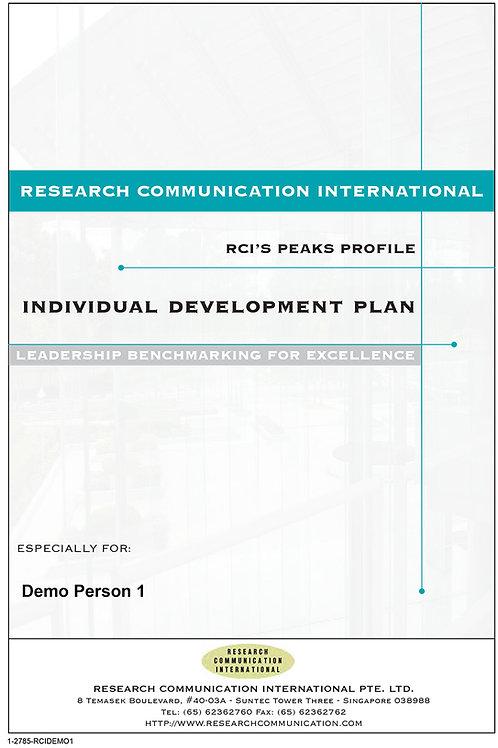 PEAKS™ Individual Development Plan