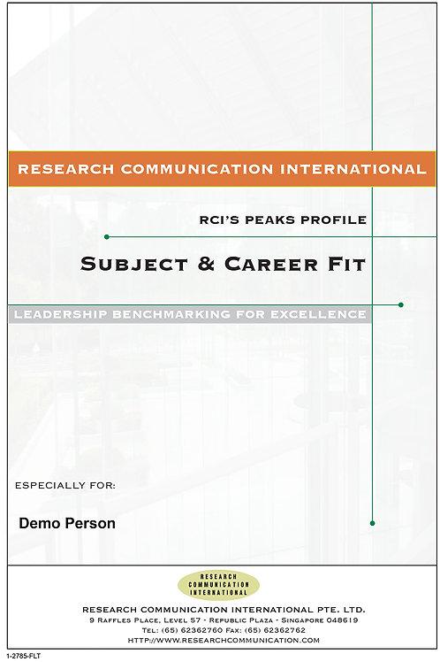 PEAKS™ Subject & Career Fit