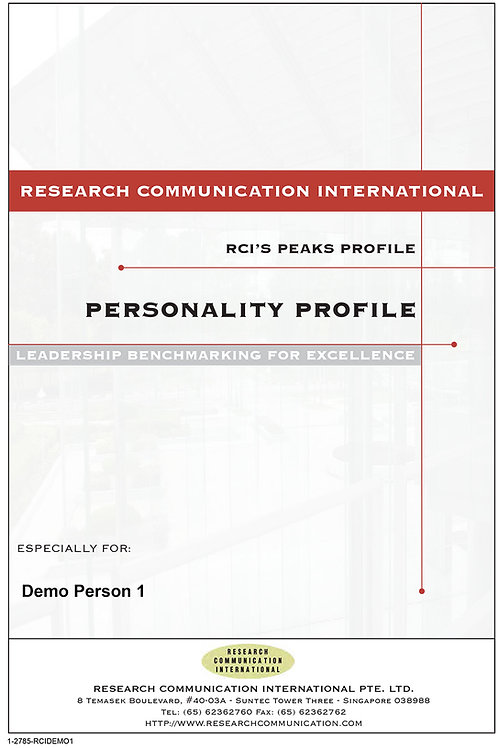 PEAKS™ Personality Profile