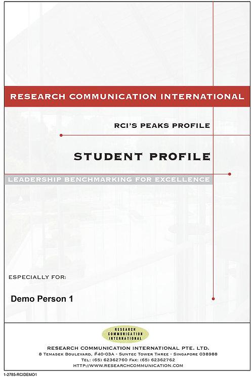 PEAKS™ Student Profile