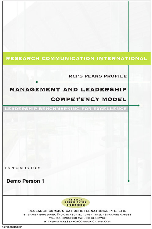 PEAKS™ Management & Leadership Competency Model