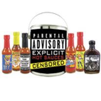 Parental Advisory Hot Sauce Bucket