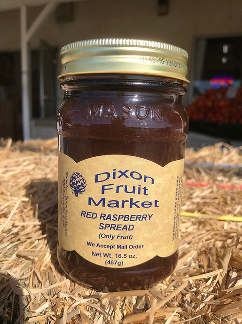 Red Raspberry Spread (Fruit Only)