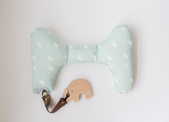 GREEN ELEPHANT PILLOW