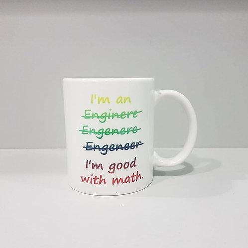 Cană I'm good with math