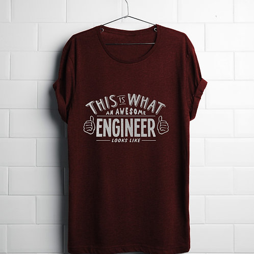 T-shirt Awesome Engineer F