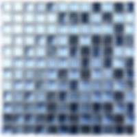 deep blue mix of glass mosaic tiles in a 300x300 grid
