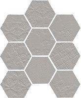 Hexagon matt grey porcelain mosaic