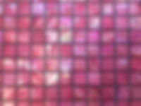 Pink square grid of mosaic tiles
