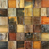 square pieces of wood of different colours similar to a chessboard