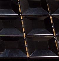 black glass mirror mosaic in a sheet
