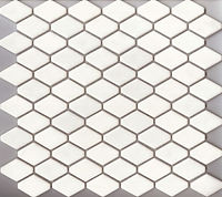 white interlocking scale mosaic