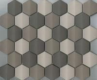 brown mix interlocking hexagon mosaic