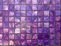 purple square grid of mosaic tiles