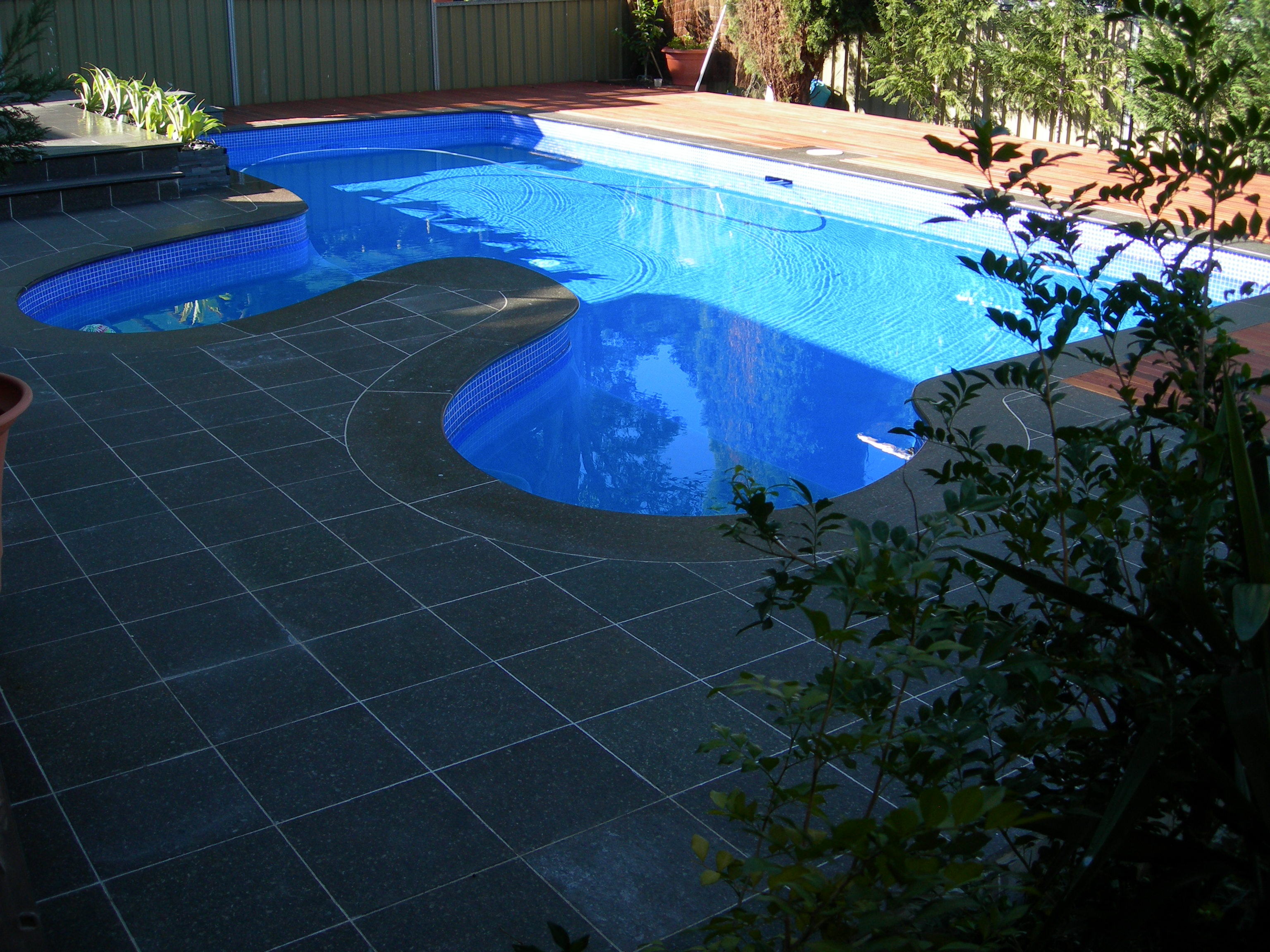Georges hall pool and landscaping