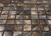 Grey/ Brown mix square grid of mosaic tiles