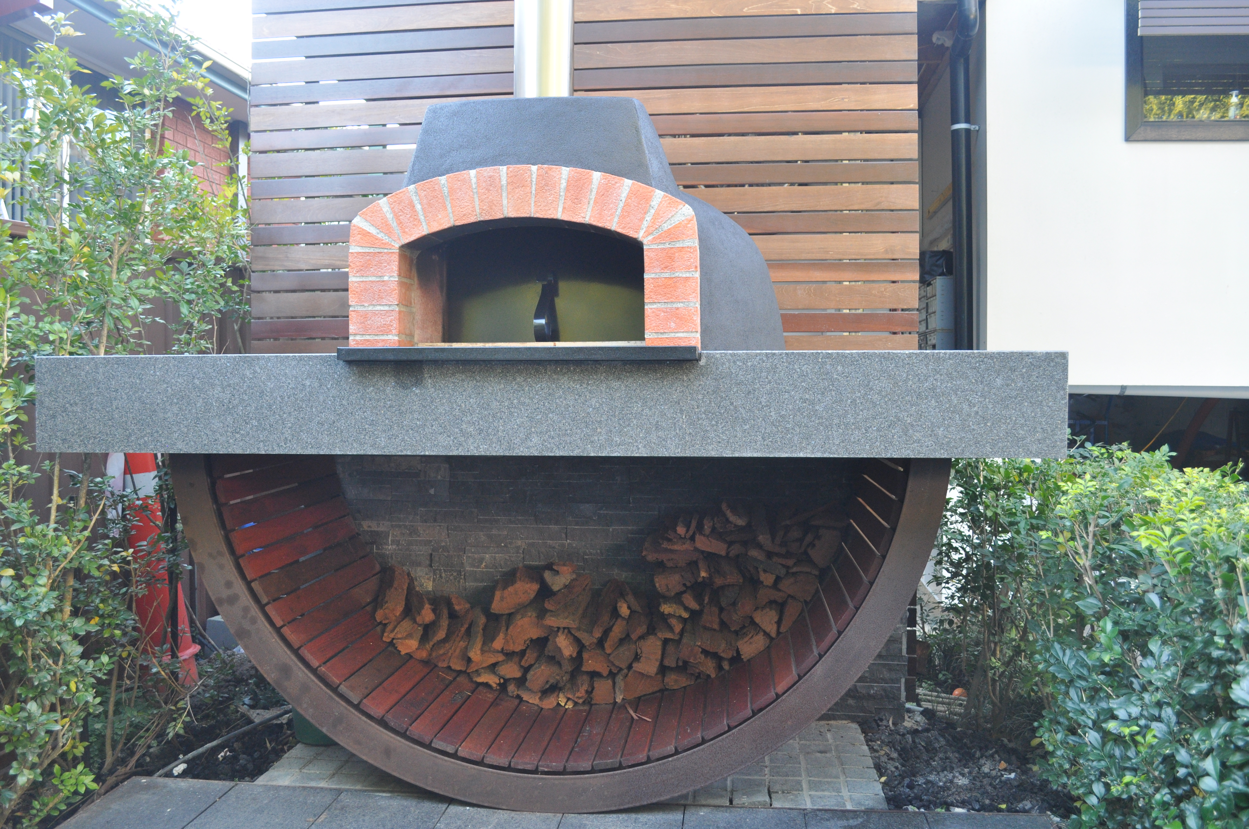 Georgeshall custom design and built pizza oven