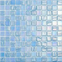 blue matte and glossy glossy mosaic tiles in a 35 x 35 grid