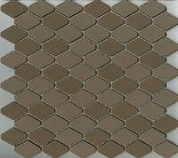 brown interlocking scale mosaic