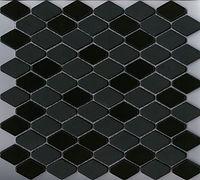 black interlocking scale mosaic
