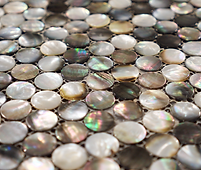 mixed pearl colour of brown pennyround mosaic sheet