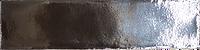 Metallic silver handmade ceramic subway tile with a gloss finish