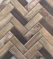 interlocking rectangular timber look tiles