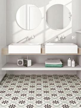 Mosaic floor tiles for a bathroom floor or wall