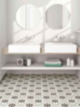 Mosaic floor tiles for a bathroom floor or wall