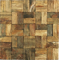 natural wood look, intersecting in a geometric patter
